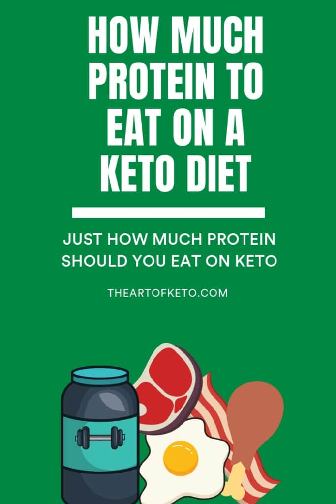 how much protein on keto pinterest cover