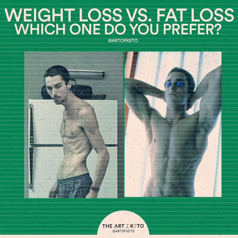 keto weight loss vs fat loss