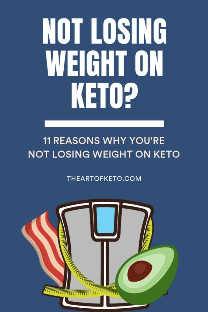not losing weight on keto pinterest cover
