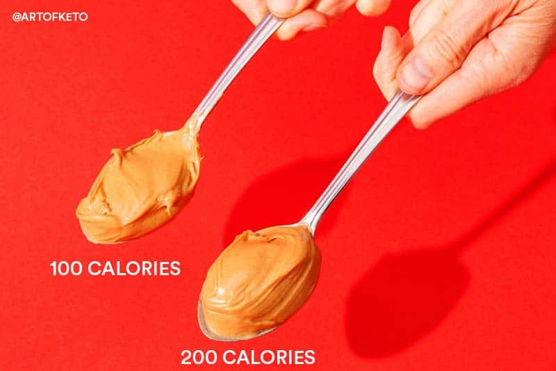 not losing weight PEANUT BUTTER difference
